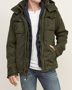 Mens A&F Premium Mountain Jacket   Mens Outerwear & Jackets   Abercrombie.com