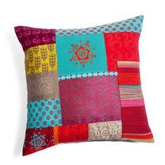 Housse de coussin patchwork 40 x 40 cm ZANGORA | Maisons du Monde