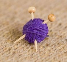 Perfect for my mom! Purple Knitter's Brooch - Yarn and Knitting Needles. £6.50, via Etsy.