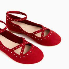 BALLERINAS WITH STUDDED ANKLE STRAP-View all-SHOES-GIRL | 4-14 years-KIDS | ZARA United States