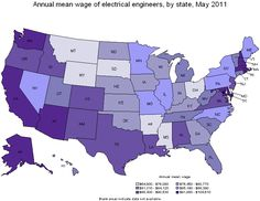 Electrical Engineers salary by state