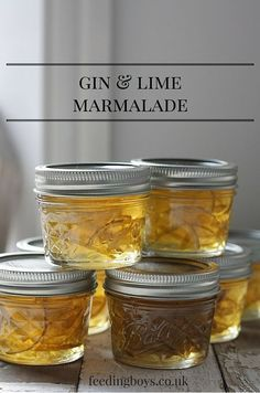 Gin & Lime Marmalade recipe   A great DIY gift idea that's delicious on hot buttered toast or with a pancake brunch.