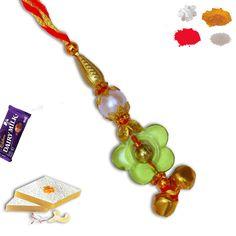 Bead Lumba Rakhi. #lumba #Rakhi #RAkhiGifts#SendRakhi#OnlineRakhi#rakhitoindia Rakhi To India, Rakhi Online, Rakhi Gifts, Charmed, Australia, Drop Earrings, Beads, Decoration, Bracelets