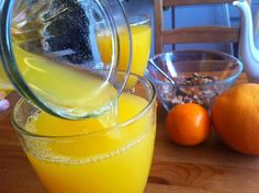 MN: Home-made orange juice. 5 l, great taste Orange Juice, Punch Bowls, Smoothie, Food And Drink, Ice Cream, Homemade, Drinks, Inspiration, Syrup