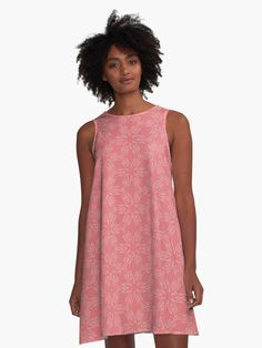 """Tea Rose #1"" A-Line Dress by Kettukas 