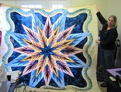 Feathered Star Queen Size ~ Judy Niemeyer Quilting, Quiltworx.com, Publish Date Late 2012.