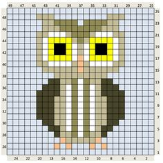 Animal Crochet Charts - The Crafty Co Pixel Crochet, Crochet Cross, Crochet Chart, Crochet Patterns, Loom Patterns, Mini Cross Stitch, Cross Stitch Animals, Cross Stitch Designs, Cross Stitch Patterns