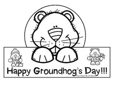 Groundhog's Day Hat , Color Sheets, and More Freebie!!!