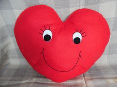 Felt Heart Cushion  Red by DaisyFelts on Etsy