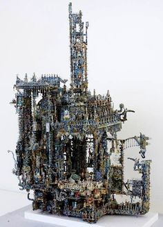 ACM (1951) | Louise Nevelson, Alberto Giacometti, Art Brut, Russian Art, Outsider Art, Sculptures, Holiday Decor, Creative, Naive
