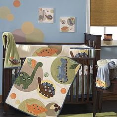 I think I'm in love Baby Dino Dots Crib Set- Lambs & Ivy Baby Dino, Baby Boy, Cute Baby Shower Ideas, Crib Sets, Boy Quilts, Kids Room Design, Baby Bedroom, Future Baby, Cribs