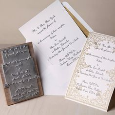 It's would make the process so much easier and give a great rustic vintage touch to any invite or stationary £30