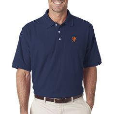 Lacrosse Player Emblem Men's Polo. Lacrosse goalies and players will love this quality polo.