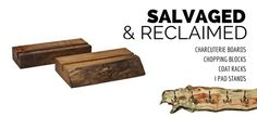 Reclaimed Live Edge Accessories! #UTS