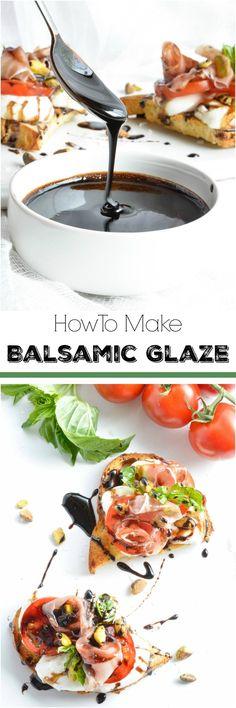 How To Make Balsamic Glaze - WonkyWonderful