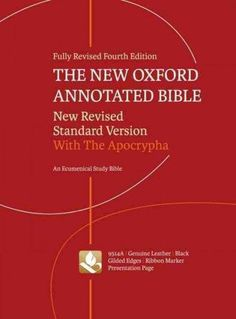 The New Oxford Annotated Bible: New Revised Standard Version,, Genuine Leather, With The Apocrypha