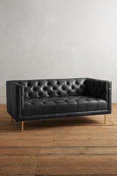 Slide View: 1: Premium Leather Mina Settee