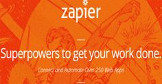 "Zapier is considered as a ""game changer"" in the world of social media marketing. It connects and automates over 250 web apps together and he..."