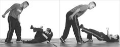 Krav Maga Kicks | ... his knees) chest, head; a kick to the knee or shin is also possible