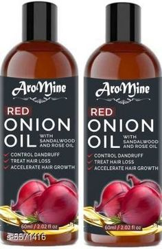 Hair Oil AroMine Red Onion Oil With Sandalwood & Rose Oil for Hair Regrowth Hair Oil (120 ml) Product Name: AroMine Red Onion Oil With Sandalwood & Rose Oil for Hair Regrowth Hair Oil (120 ml) Multipack: 2 Flavour: Onion Country of Origin: India Sizes Available: Free Size   Catalog Rating: ★4.1 (458)  Catalog Name: Free Gift Premium Ultra Herbal Oil CatalogID_833398 C166-SC2033 Code: 232-5571416-354