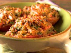 Herb Stuffed Tomatoes recipe from Giada De Laurentiis via Food Network Giada De Laurentiis, Giada Recipes, Veggie Recipes, Cooking Recipes, Dinner Recipes, Snacks Recipes, Drink Recipes, Holiday Recipes, Vegetarian Recipes
