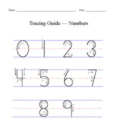 tracing for kids | Copyright 2000-2009 by Handwriting for Kids