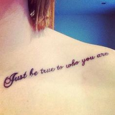 """""""Just be true to who you are"""""""