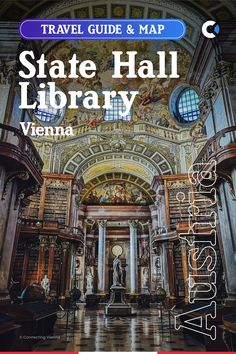 The State Hall (ger. Der Punksaal) of the National Library of Austria in Vienna is widely known to be one of the most beautiful historic libraries in the world. Developed between 1685 and 1740, the State Hall contains around 200,000 books, gathered by orders of Emperors between 1501 - 1850. 77.7 m / 255 ft in length and 14.2 m / 46.6 ft in width, make it the largest Baroque library in the world and it is among the top tourist destinations in #Vienna #Austria #Europe #EU #ConnectingVienna Europe Travel Outfits, Europe Travel Guide, Iceland Travel, France Travel, Travel Guides, Visit Austria, Austria Travel, Vienna Austria, Europe Eu