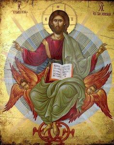 Jesus Christ, the Icon and the Logos of God In the name of the Father and the Son and the Holy Spirit! Glory to Jesus Christ! Images Of Christ, Religious Images, Religious Icons, Religious Art, Byzantine Icons, Byzantine Art, Christus Pantokrator, Religion, Christ The King