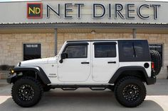 White is also an option :)) Jeep Wrangler Unlimited Sport LIFTED