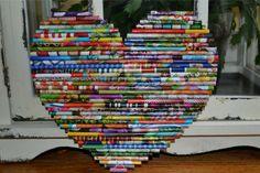 Decorative Heart. Bedroom Family or Nursery by UpAgainstTheWall