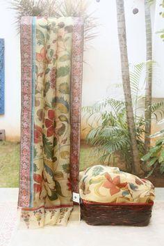 Kalamkari Organza L01568 | Lakshmi