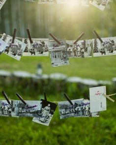 These escort cards are made from vintage images of Aspen - martha stewart