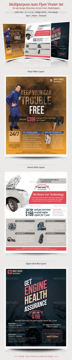 13 Printable Insurance Flyer Template Graphic Design Pinterest - auto detailing flyer template