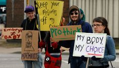 pro-choice signs | Pro Choice Protest In this file photo, pro choice