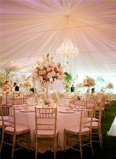 extravagant - the tent and those amazing centerpieces