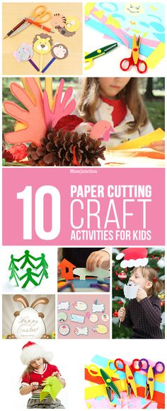 Paper Cutting Craft Activities For Kids: Check out these simple yet creative cutting ideas for kids and watch your kid get busy into hours of creativity- something way better than watching cartoons on TV. You can also help him out with his activity. This is also a cool way to build a good relationship with your kid.