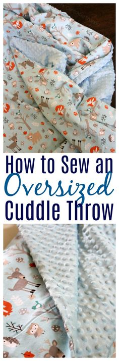 Homemade blankets make beautiful gifts! Here's an easy tutorial to help you sew an oversized throw in less than an hour! #blanket #handmade #gift #sewing