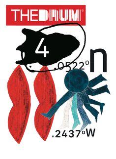 David Carson – Cover for The Drum magazine, March 2017 Identity Design, Brochure Design, Visual Identity, Identity Branding, Corporate Identity, Personal Branding, Graphic Design Posters, Graphic Design Typography, Graphic Designers