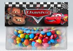 Cars favor bag topper treat candy party Disney's Disney