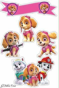Sky Paw Patrol, Paw Patrol Cake, Paw Patrol Party, Paw Patrol Birthday, Cumple Paw Patrol, Deco Stickers, Cartoon Characters, Besties, Party Themes