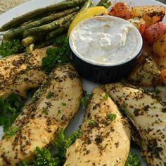 Greek Lemon Chicken and Potato Bake Allrecipes.com #MyAllrecipes  #AllrecipesFaceless  #AllRecipesAllstars