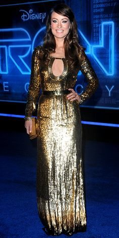 Uk Emilio Pucci Gold Sequins Dress Olivia Wilde in Emilio Pucci