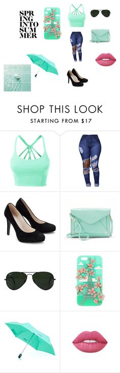 """""""paris"""" by laurenj709 on Polyvore featuring LE3NO, Apt. 9, Ray-Ban, Kipling and Lime Crime"""