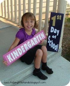 First Day of School Kindergarten   First Day of School!