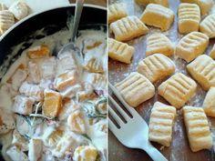 Gnocchis de courge butternut à la sauce romarin parmesan