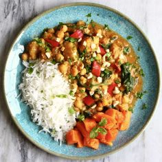 This Chickpea Sweet Potato Peanut Curry is unbelievably easy to make, comforting, and conveniently happens to be really healthy too!e Vegan, vegetarian, dairy-free and gluten-free. Curry Recipes, Veggie Recipes, Indian Food Recipes, Gluten Free Recipes, Whole Food Recipes, Vegetarian Recipes, Cooking Recipes, Healthy Recipes, Vegan Vegetarian