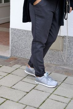 #sneakers #grey Business Outfit, Fashion 2016, Sweatpants, Grey, Sneakers, Blouse, Ash, Tennis Sneakers, Gray