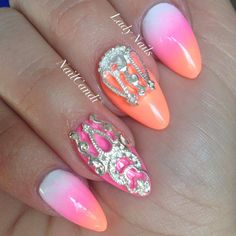 """""""Royal Highness"""" Nail Veil Collection available on our website www.nailcandi.co.za  The ONLY reusable nail art available!  #3DNailArt #NailArtCharms"""