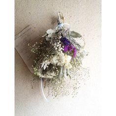 かすみ草とライスフラワーのスワッグ | ハンドメイド、手作り作品の通販 minne(ミンネ)